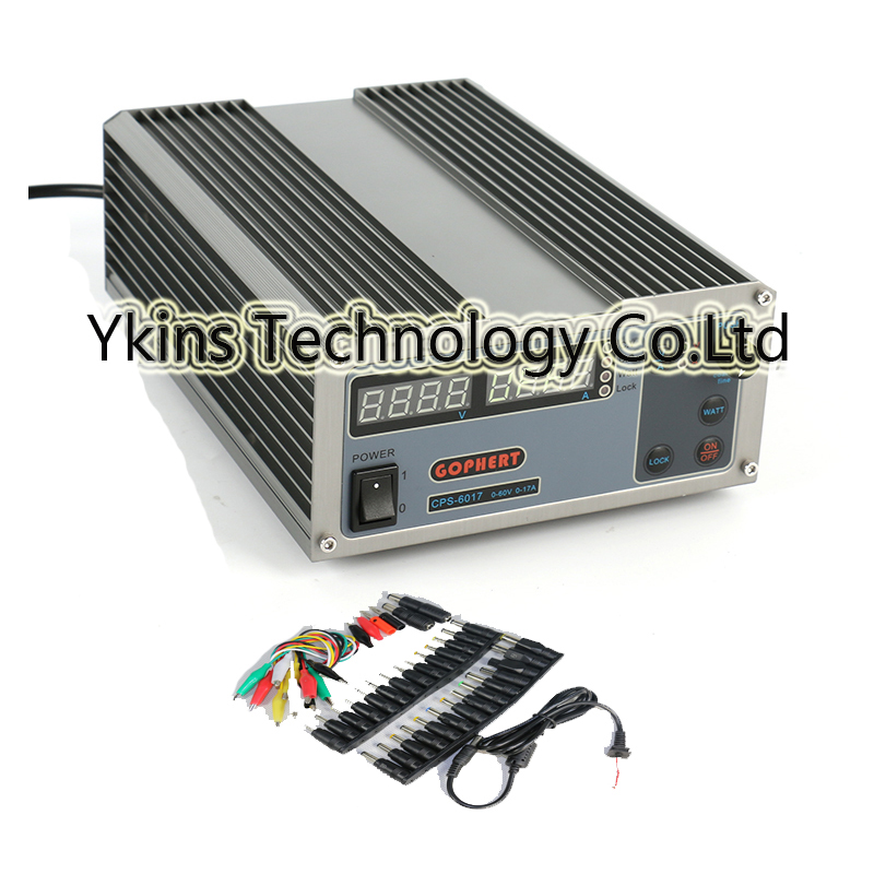 High Power Digital Adjustable DC Power Supply CPS-6017 1000W 0-60V/0-17A Laboratory power supply+39pcs jack power free ship small volume cps 6011 60v 11a high efficiency adjustable dc power supply stabilized voltage supply