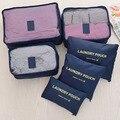 6 Pçs/set Unisex Nylon Cubos de Embalagem Para Roupas Leves Organizadores Saco De Duffle Sacos De Viagem Bagagem Para Camisas À Prova D' Água