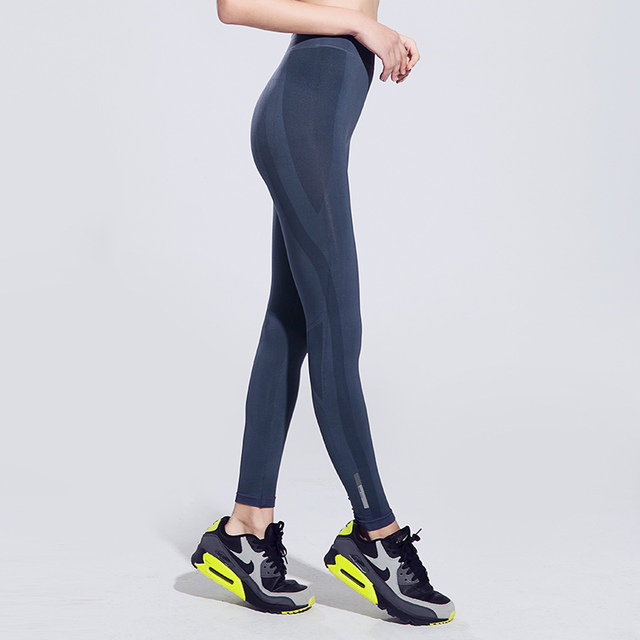 Sexy Slimming Women Yoga Pants Gym Fitness Smooth Tights Pencil Pants Outdoor Workout High Waist Sports Jeggings Thin Leggings