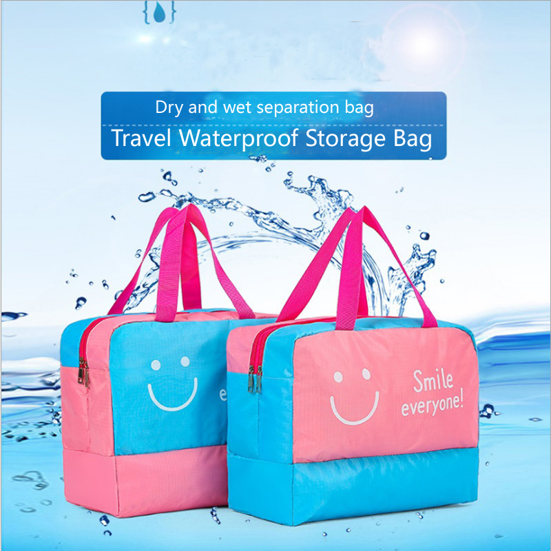 Fashion Men And Women Travel Waterproof Storage Bag Oxford Cloth Swimming Dry and Wet Separation Large Capacity Swimming Bag|Hanging Organizers| |  - title=