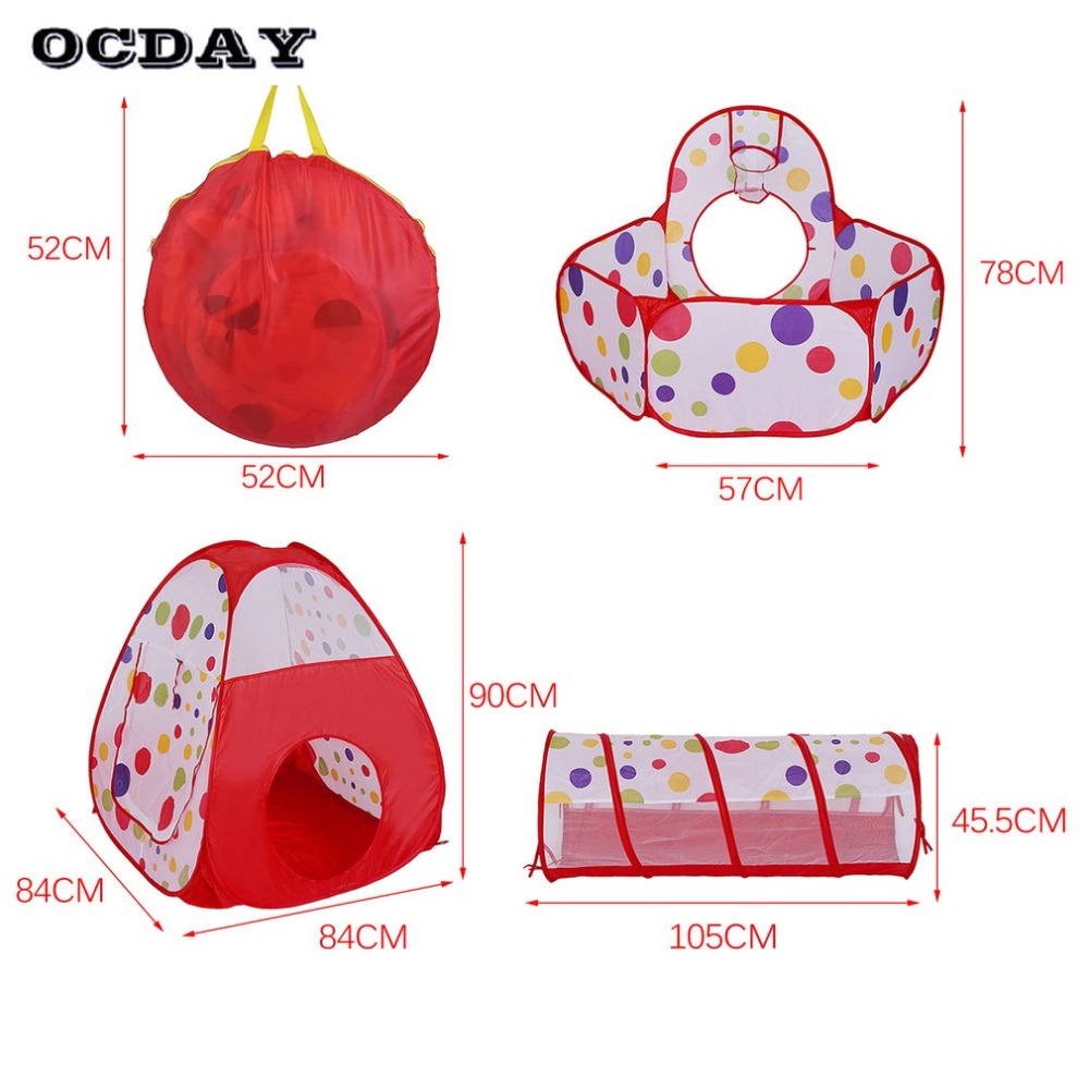 OCDAY 3 en 1 tienda de juguetes para niños niños Portátil plegable - Deportes y aire libre - foto 5