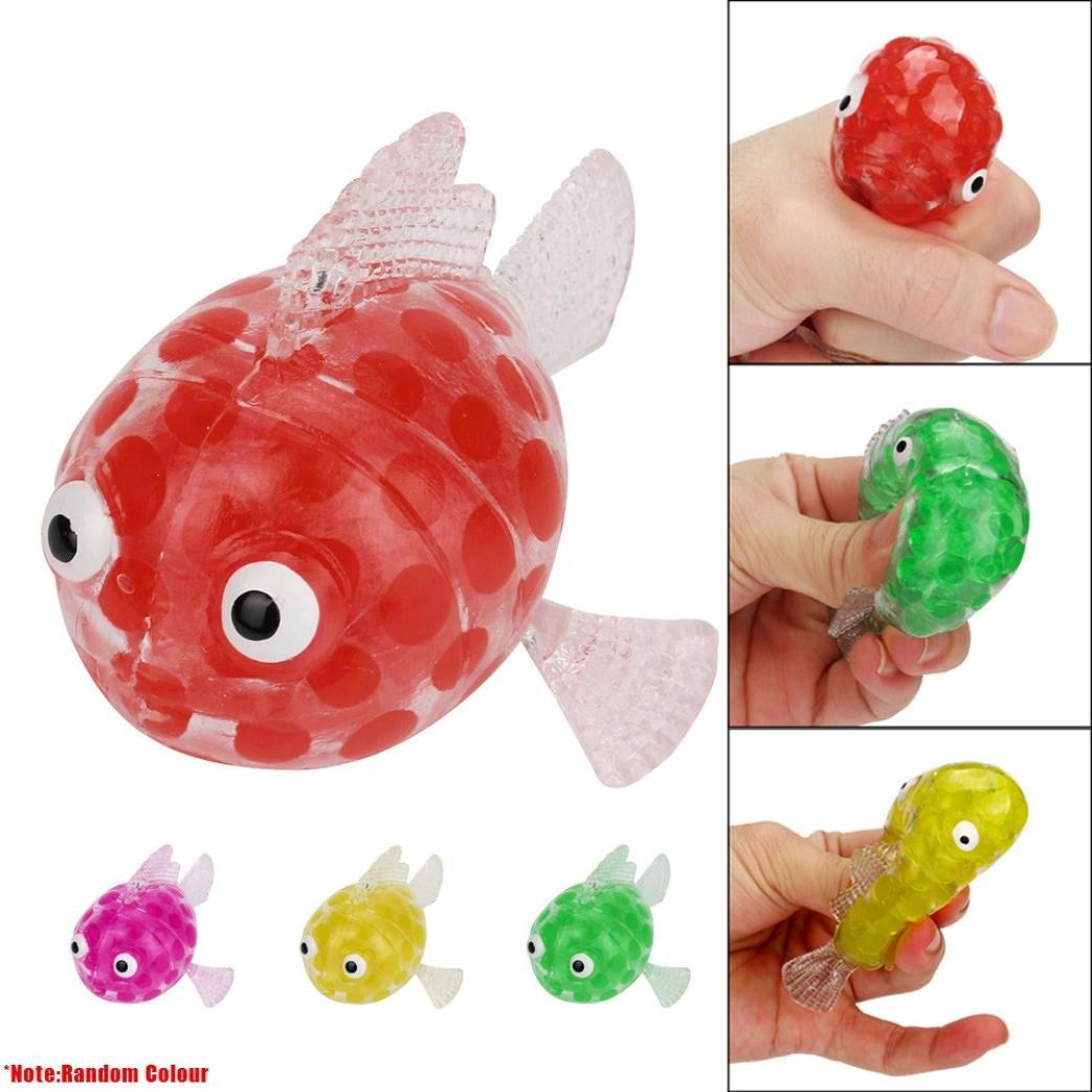 Cute Colorful Fish Anti Stress Ball Squishy Soft Squeeze Phone Strap ...