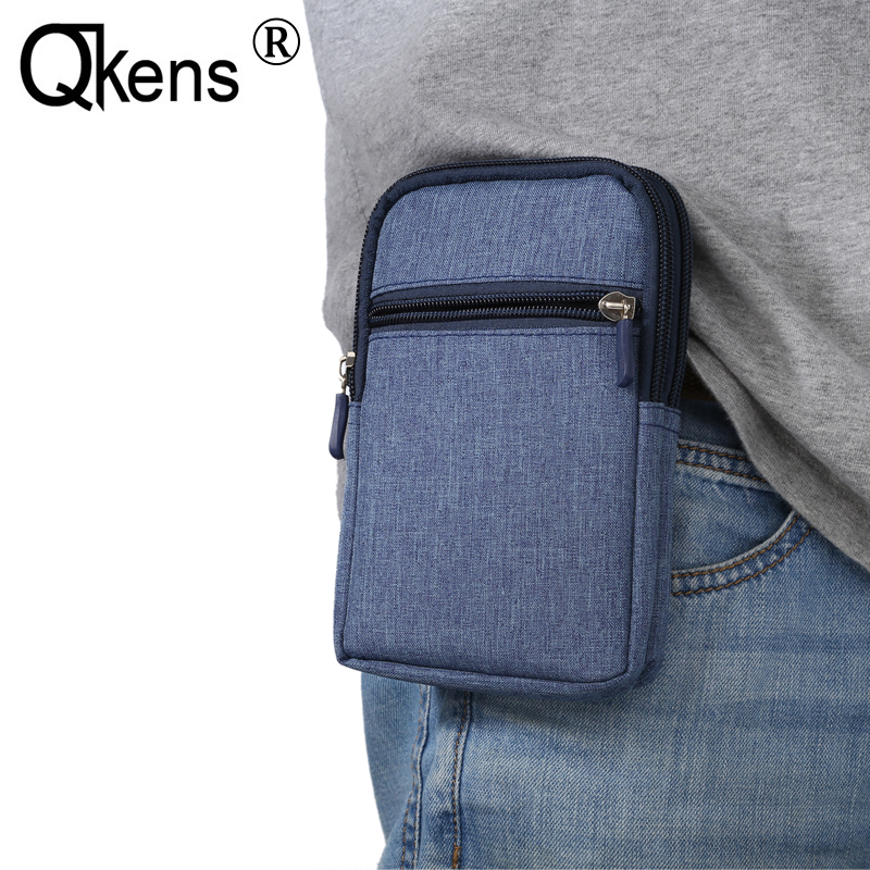 Universal Denim Phone Bag Belt Clip Waist Purse Case Fanny Pack Cover For Homtom HT17 HT20 HT3 HT5 HT6 HT7 HT10 HT3 pro..(China)