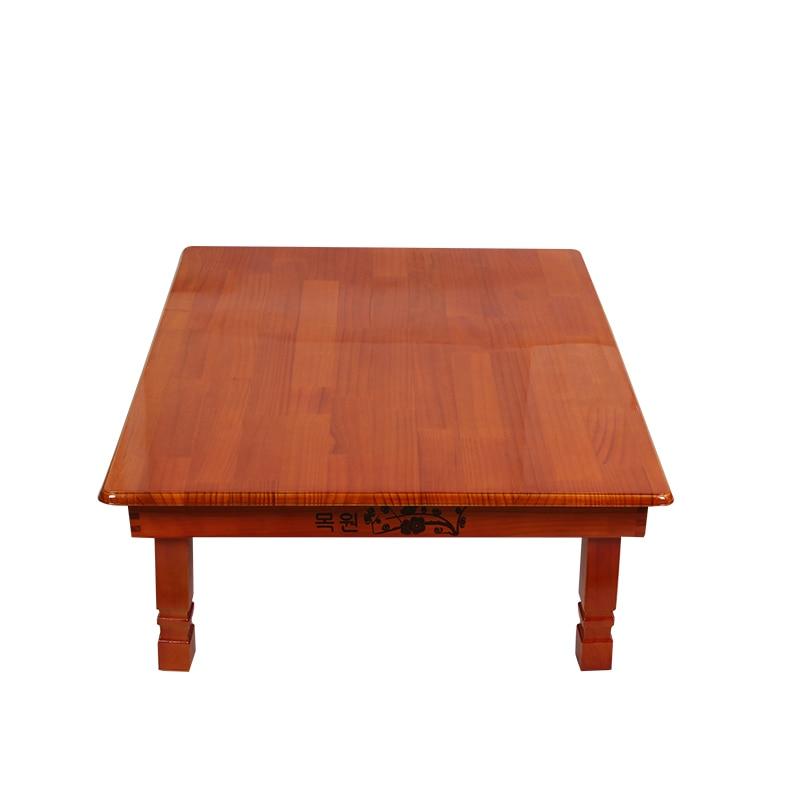 Madera Muebles coreano mesa de comedor pierna plegable rectángulo 90 ...