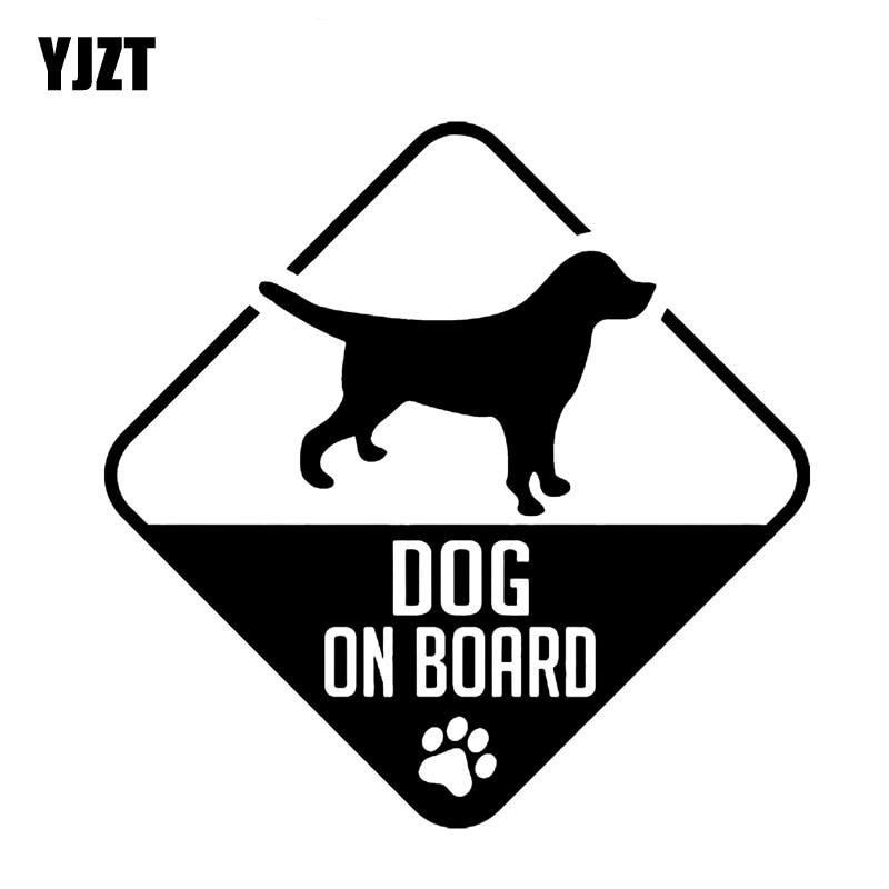 YJZT 10.2CM*10.2CM BEAGLE DOG ON BOARD Car Decal Vinyl Sticker Black Silver C10-00680