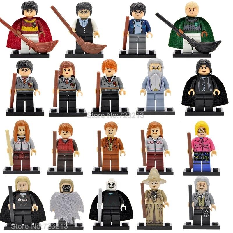 Einzigen Verkauf Harry Potter Figur Hermine Ginny Ron Weasley Herr Voldemort Dementor Draco Malfoy Luna Snape Bausteine Spielzeug