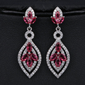 Julie luxo longos brincos pendurados para as mulheres 3 cores aaa + cz cristal brinco banhado a ouro brincos moda jóias dropshipping