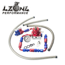 LZONE – Universal auto fpr AN6 Fittings EFI fuel pressure regulator For 7MGTE MKIII with hose line.Fittings.Gauge JR7843WL