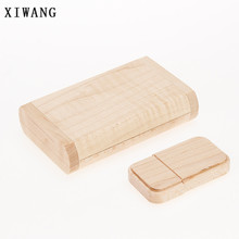 XIWANG Custom LOGO Natural Wood U Disk USB Flash Drive 4GB 8GB 16GB 32GB 64GB Notebook USB Flash Card Wedding Gift Free Shipping