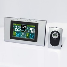 Best Buy JIMEI H127G-COLOR Wireless Colorful LCD Display Indoor Outdoor thermometer hygrometer Weather Station Electronic Desk Clock