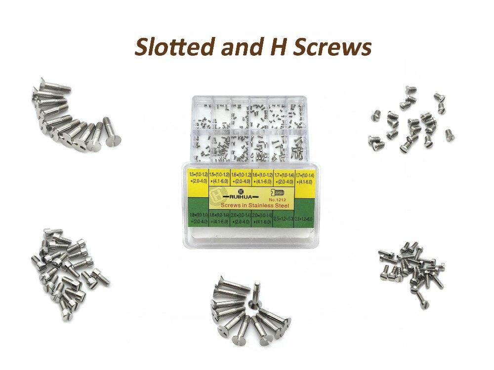 Slotted Screws And H Screws - Stainless Steel Assorted Screws Watch Tools For Repairs Watch 12 Sizes Watch Repair Tool Kit