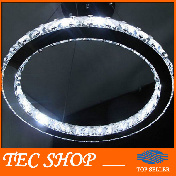 Best Price Modern LED Crystal Chandelier Diameter 20cm Single Ring Annular Crystal Lamp Bedroom Kitchen Living Room Ring Lights z best price l80xw80xh100cm modern k9 square crystal chandelier restaurant lamp hanging wire pyramid crystal lamp project lights