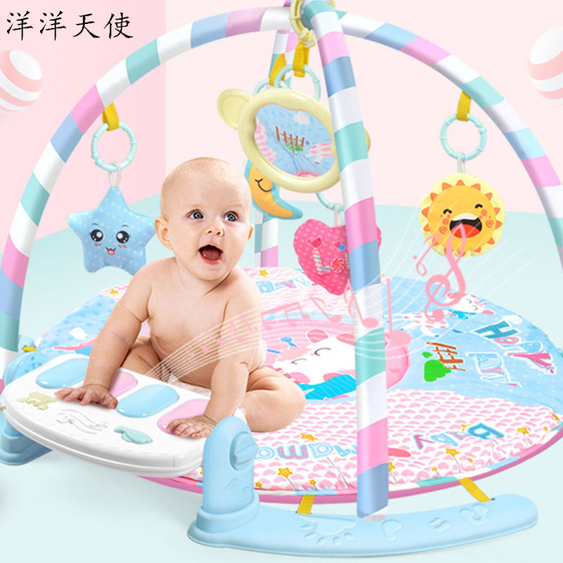 Bébé activité Gym enfants jouets lumière musique hochet bébé jouer tapis pédale Piano tapis Montessori bébé Mobile jouets infantile bambin apprendre