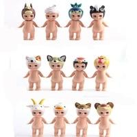 12pcs/Lot Lovely Sonny Angel Pvc Action Figure Toy Cartoon Mini Baby Angel Display Model Doll Angel Animal Original Limited Gift