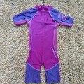 Bebé púrpura de una pieza de Baño traje de Baño de Protección UV (ups50 +) de una sola pieza traje de baño ropa de playa ropa de surf