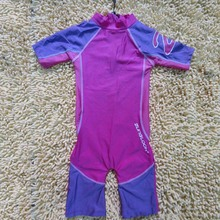 child ladies UV Safety purple one piece Swimsuit Bathing Swimming go well with (ups50+) one-piece swimsuit seashore put on surf clothes