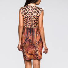 Lady Leopard Print Long Sexy Dress