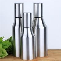 Leak Proof Stainless Steel Olive Oil Bottle Dust Proof Soy Sauce Vinegar Seasoning Storage Kitchen Cooking