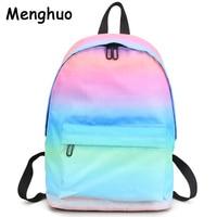 Menghuo Newest Women Backpacks 3D Printing Backpack Female Trendy Designer School Bags Teenagers Girls Men Travel