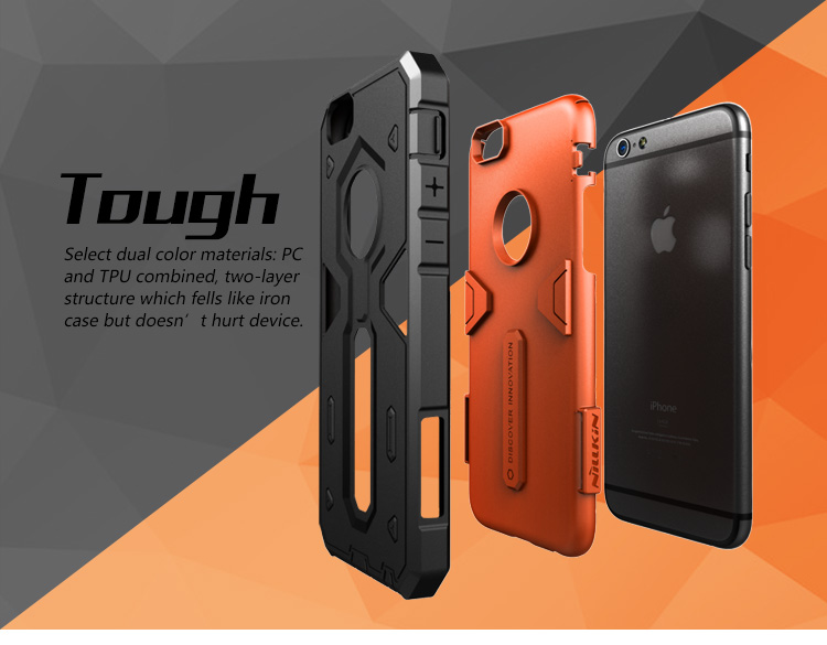 7bf8eeebf5 For Apple iPhone 6 Case Original Nillkin Rugged Shield Back Cover luxury  Defender 2 Shockproof Tough Slim Cover for iPhone 6S-in Fitted Cases from  ...