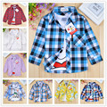 2017 new cotton shirts baby boys wear for spring children clothes long sleeve girls stripes clothing for autumn -summer  2 -10T
