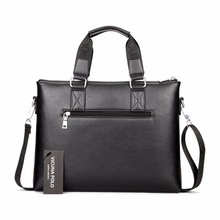 Classic Business Man Briefcase Computer Laptop Shoulder Leather Bag