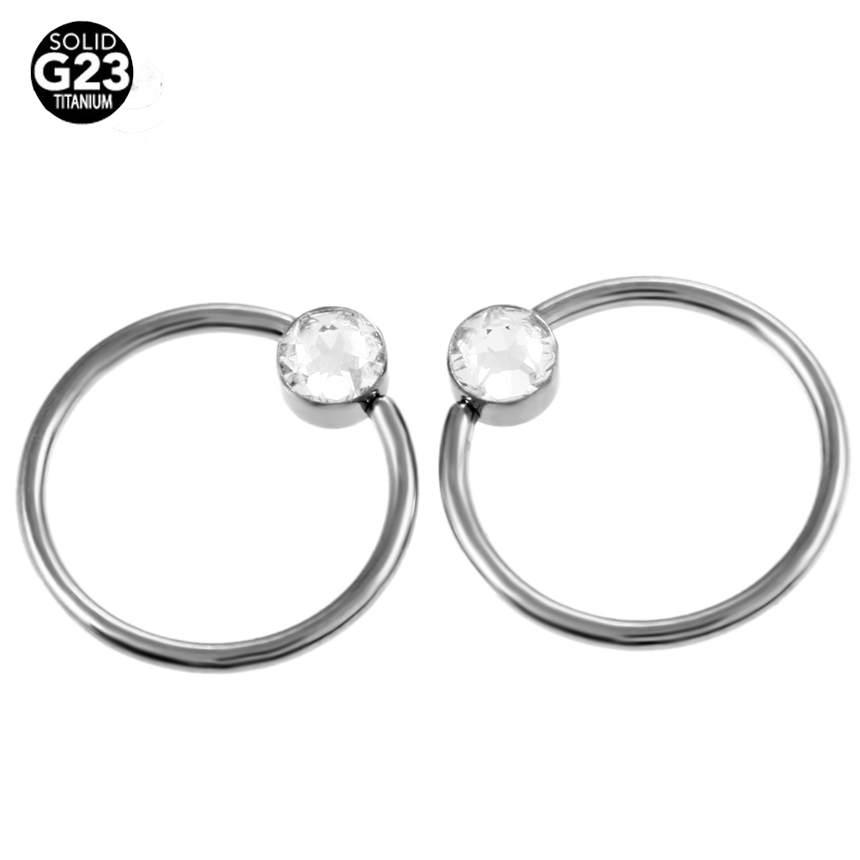 Captive Bead Ring Nose Piercing