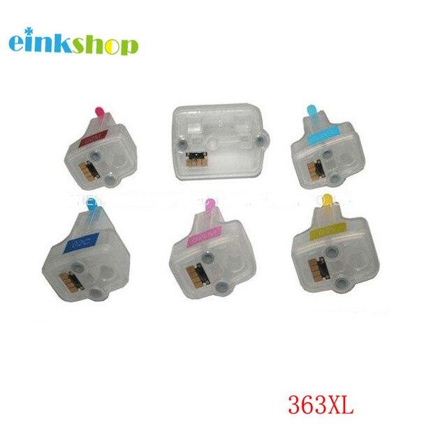 1 Set For HP 363 Refillable Ink Cartridge with chip for HP Photosmart C5180 C6180 C6280 C7160 C7180 C7280 C8180 D6160 D6180