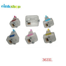 1Set Empty Refillable ink cartridge for HP363 XL for Photosmart C5180 C6180 C6280 C7160 C7180 C7280 C8180 D6160 D6180 D7145 12 xl ink compatible for 363 ink photosmart c5180 c6180 c7180 c7280 c8180 3310 printers