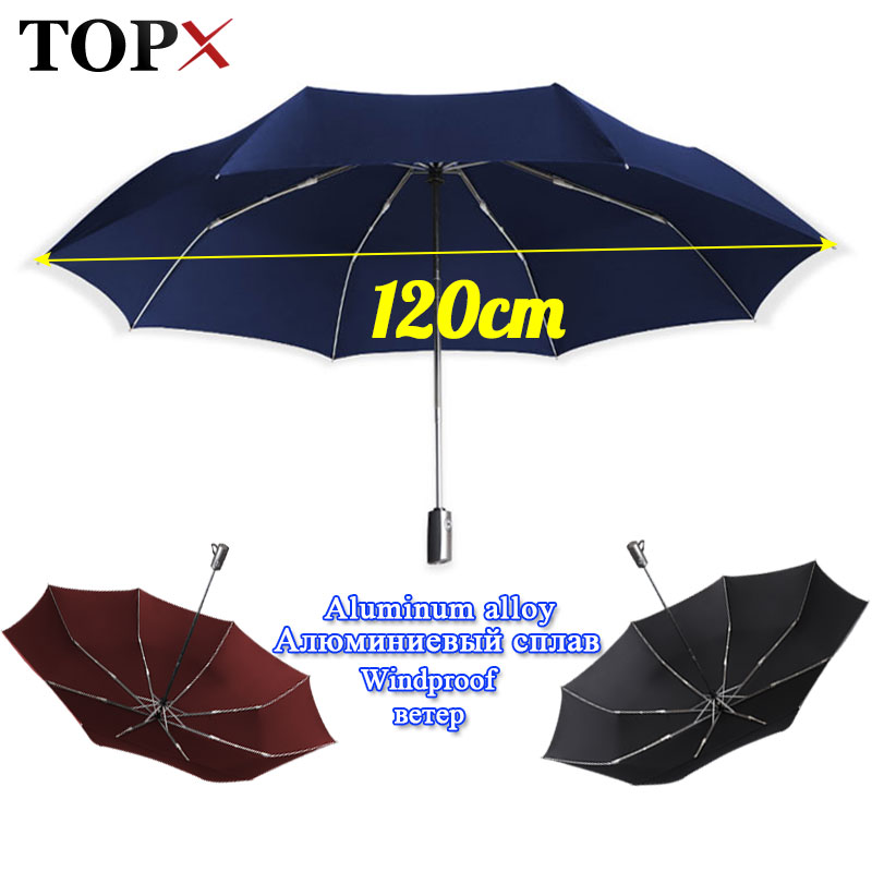 Quality Brand <font><b>Big</b></font> 120cm 3Folding <font><b>Umbrella</b></font> Men Rain Woman <font><b>Golf</b></font> Business <font><b>Umbrella</b></font> Automatic Windproof <font><b>Umbrellas</b></font> Travel Parasol image