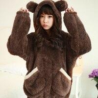 NEW Winter Sleepwear Women m 4xl velvet Pajamas Warm Pyjamas Women Fleece Sleepwear Overall Plus size Cartoon Home Suits
