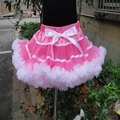 Оптовая продажа настоящее детская одежда девочек весна лето пушистый юбки мини-юбка танцы бальное платье юбка PETS-102