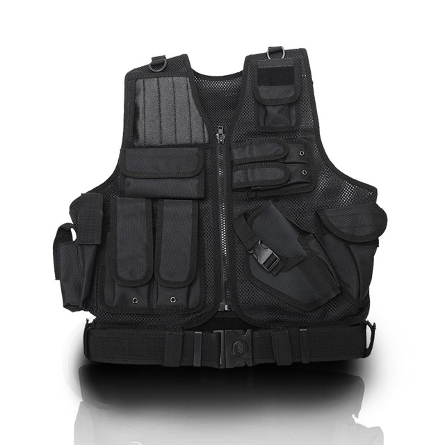 Tactical vest outdoor CS field protection equipment black riding security / security vest mesh breathable