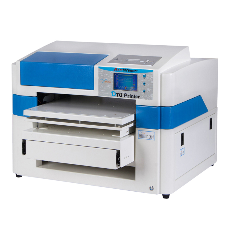 Wide Format T Shirt Printing Machine With 8 Color A2 T-Shirt Printer For New Metal Appea ...