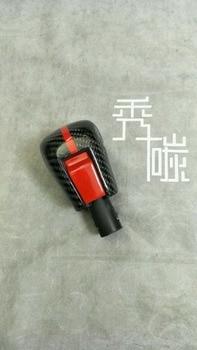 Fit for   Honda for civic  red black color The ten 10  generationcarbon fiber  gear knob  Shift knob The first car stalls