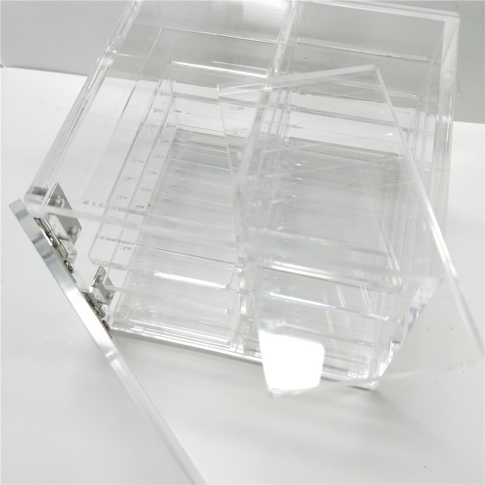 Make Up Box For Eyelash Extension Makeup Tools Individual Eyelash Case False Eyelash Salon Use Acrylic Lash Holder