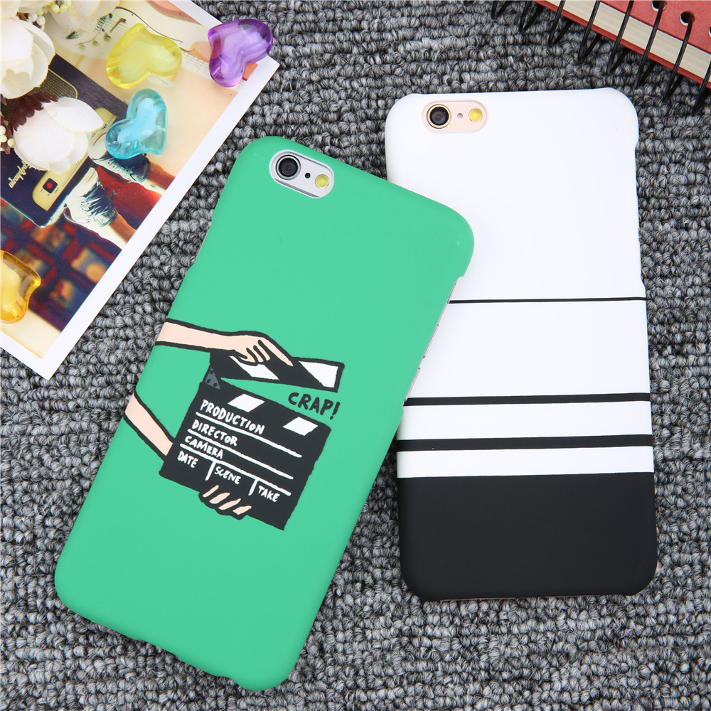 Luxury Hard Frosted Case For iphone 7 6 6S Plus 5 5S SE Case Fashion movie pattern stripes Phone Cases For iphone 7 Plus Cover