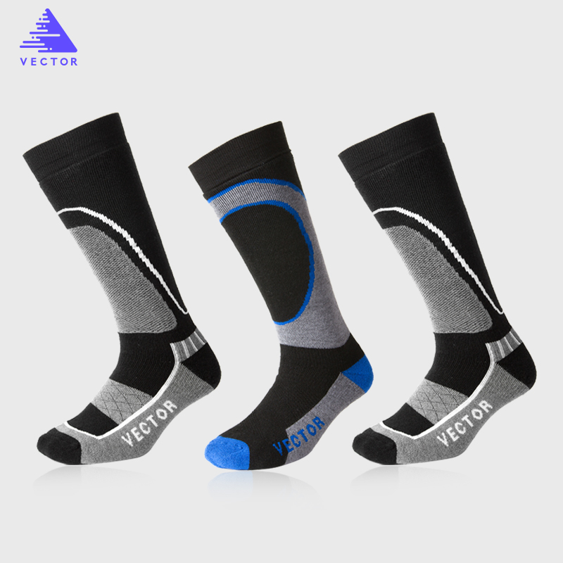VECTOR Winter Warm Ski Socks Men Women Thick Merino Wool Socks Thermal Winter Sports Snowboard Soccer Cycling Skiing Socks