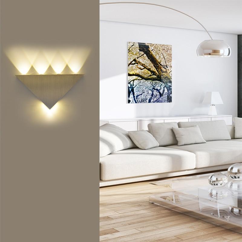 Feimefeiyou led wall light 5W luminaria sliver Aluminum Triangle energy saving Home lighting lamp 2 styles feimefeiyou luminaria lampada de led 3w aluminum indoor wall lighting morden lamp for corridor bedingroom