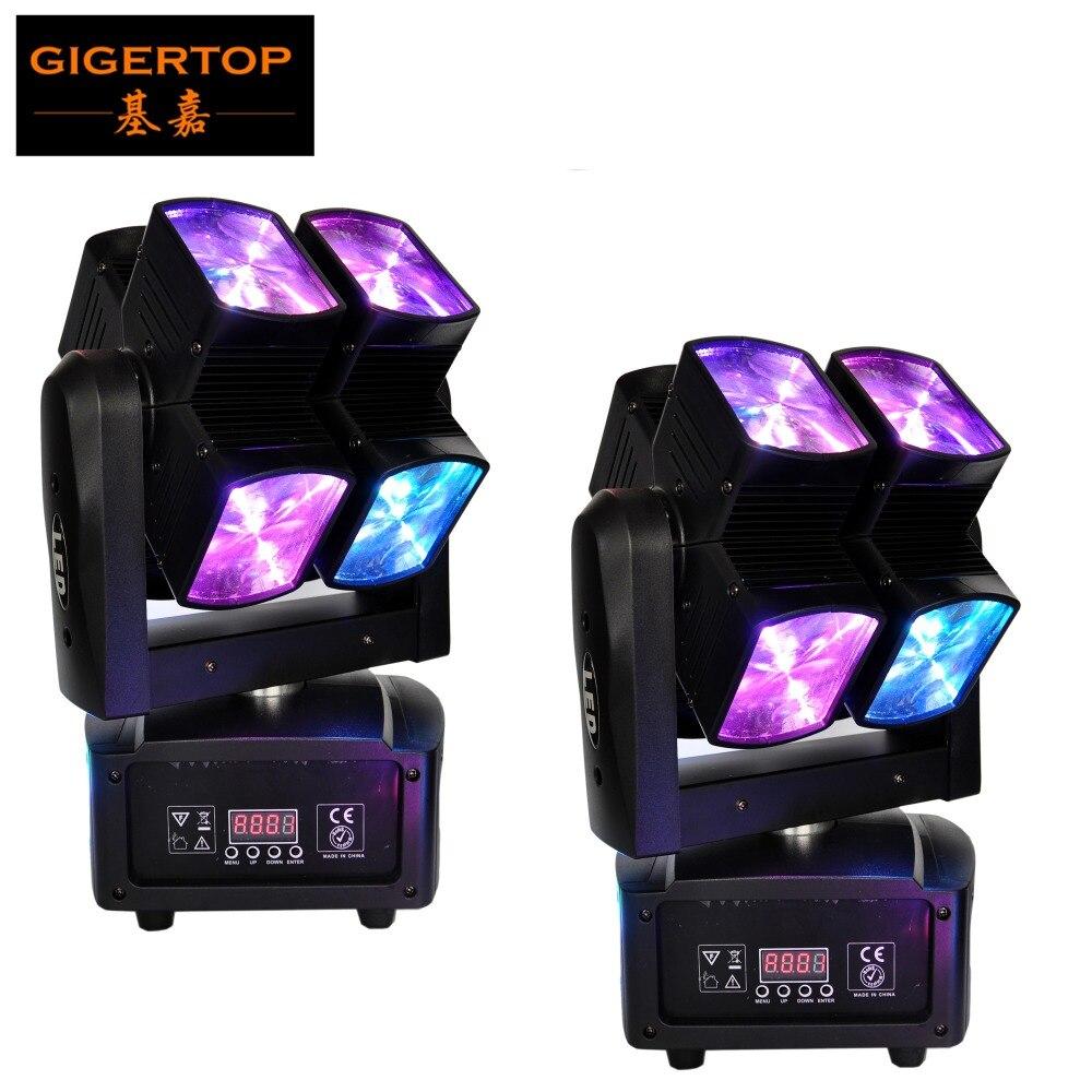 Livraison gratuite 2 Pack Led Cube faisceau lumineux tête mobile DMX/musique sonore/contrôle automatique affichage LCD prise de courant IEC 3 broches DMX Pin Con
