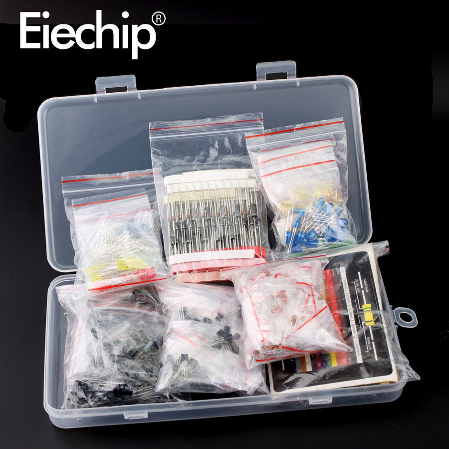 electrolytic capacitor Electrolytic Capacitor Ceramic kit Resistor led diodes set transistor Package diy assortment electronic components kits with box (3)