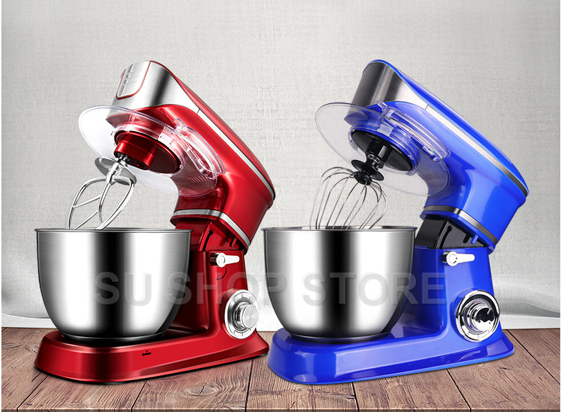 1300W Electric Bread Dough Mixer Eggs Blender 6.5L Kitchen Stand Food Milkshake/Cake Mixer Kneading Machine Dough Maker Voltag