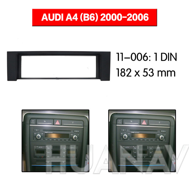 B6 2000-2006 Car Stereo Radio Fascia Panel Trim 1 Din Frame Fit For Audi A4
