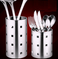 Stainless steel chopsticks tube tableware storage rack drain rack shovel spoon bucket knife fork storage Box Kitchen utensils