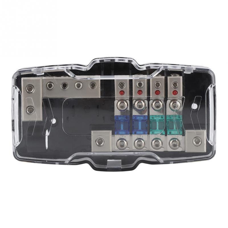 universal car audio stereo anl blade fuse holder distribution blocks 04ga 4 fuses  box block