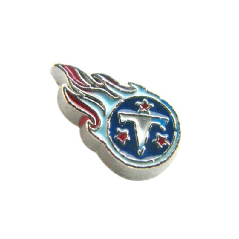 20PCS Enamel Tennessee Titans Locket Charms Silver Charms Fit Glass Living Memory Lockets