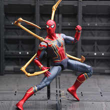 New Hot Marvel Toys Avengers Infinite War3 Spiderman PVC Action Figure Superhero Figures Spider-man Collectible Model Dolls Toy цена