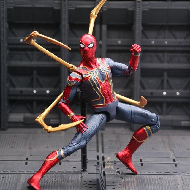 New Marvel Vingadores Brinquedos Quente Infinito War3 Spiderman PVC Action Figure Collectible Modelo Toy Dolls Figuras de Super-heróis homem-Aranha