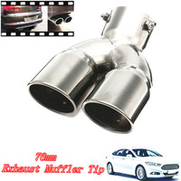 Stainless Dual Chrome Car Exhaust Pipe Muffler Tip Tail 76mm 3 Universal High Quality Gain More