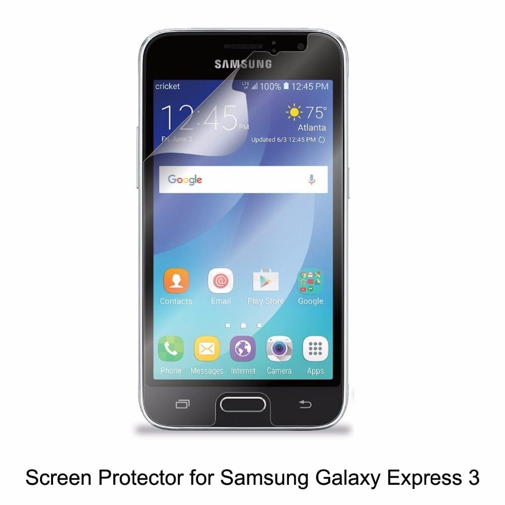 Clear Lcd Pet Film Anti Scratch Bubble Layar Sentuh Tiaria Classic Pearl Necklace Emas Mutiara 95mm Responsif Protector Untuk Telepon Samsung Galaxy Express 3